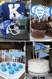blue white tailgate ideas pizzazzerie