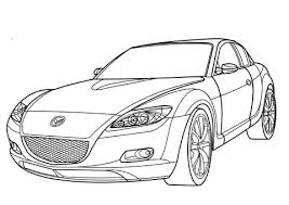mazda rx 8 coloring free printable coloring pages