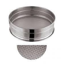 tamis cuisine professionnel inox à farine ou à sucre glace ø 22cm maille n 20 tamis inox