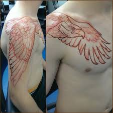 Chest And Shoulder - best 25 eagle tattoos ideas on eagle drawing eagle