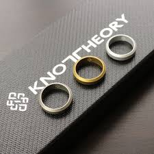 silicone wedding bands silver gold silicone wedding band for men women knot theory