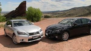 lexus 350 gs 2013 2013 lexus gs 350 vs gs450h 0 60 mph mashup review youtube