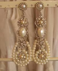 bridal chandelier earrings bridal chandelier earrings ivory pearls wedding