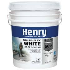 home depot solar henry 4 75 gal 287 solar flex white roof coating he287sf871 the