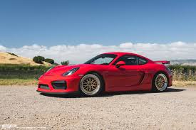 red porsche png sp motorsports red porsche cayman gt4 track project gold bbs