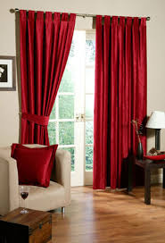 Red Living Room Curtains Decorating Ideas Cortinas Y Ropa De - Design curtains living room