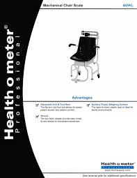 Mechanical Chair 445kl Mechanical Chair Scale Health O Meter Professional Pdf