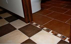 how to connect the existing tile flooring with a one