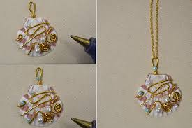 necklace with shell pendant images Crafting wire diy shell pendant necklace jpg