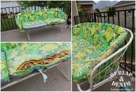 Retro Outdoor Furniture Makeover Burlap  DenimBurlap  Denim - Antique patio furniture