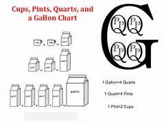 cup pint quart gallon worksheet measuring cups pints and quarts gallon pint quart cup worksheet