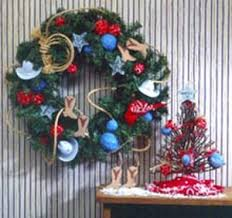 country themed ornaments and wreath favecrafts