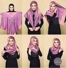 tutorial jilbab segi 4 untuk kebaya 25 inspirasi tutorial hijab segi empat terbaru 2018