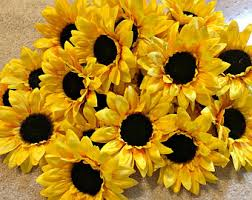 artificial sunflowers artificial sunflower etsy