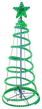 green spiral lighted tree well suited led light christmas tree silhouette spiral