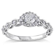 Circle Diamond Wedding Ring by Perfect Round Diamond Infinity Engagement Ring For Women In White