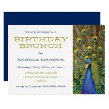 invitation to brunch wording birthday brunch invitations announcements zazzle