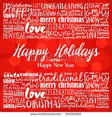 happy holidays happy new year stock vector 754502062