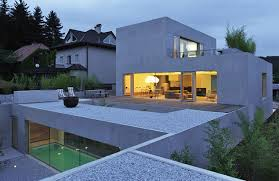 modern house design with rooftop terrace in slovenia by bevk
