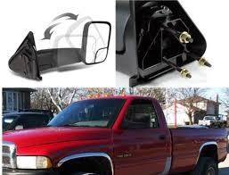 dodge ram 2500 tow mirrors fits 94 01 dodge 1500 94 02 2500 3500 lft rght tow manual