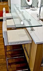 Glass Breakfast Bar Table Custom Glass Top Breakfast Bar Modern Kitchen Calgary By