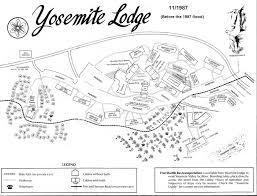Yellowstone Lodging Map Lodging At Yosemite Cabin And Lodge