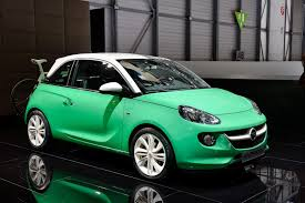 green opal car adams are all over the place at opel u0027s geneva motor show booth w