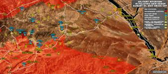 Where Is Syria On The World Map by Military Situation In Central Syria On August 1 2017 Map Update