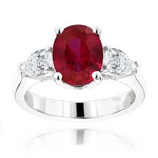 ruby and engagement rings 3 platinum and ruby engagement ring