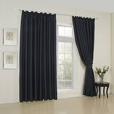 Blackout Curtains Black Two Panels Neoclassical Solid Black Bedroom Rayon Blackout