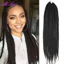 box braids hairstyle human hair or synthtic long 24 soft box braids hair crochet hair extensions box braids