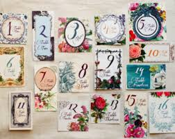 themed table numbers diy wedding cross stitch table numbers pattern 1 10