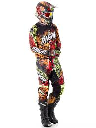motocross womens gear oneal black neon 2018 element vandal mx jersey oneal