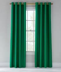 Green Grommet Curtains Jasper Faux Silk Lined Grommet Curtains Pair Emerald Green Mv1