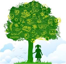 tree of knowledge free vector in adobe illustrator ai ai