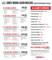 nissan altima 2016 packages auto service packages and specials terre haute andy mohr avon nissan