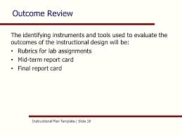 instructional plan template slide 1 aet 515 instructional plan
