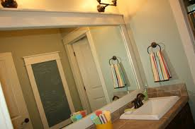 framing bathroom mirror with molding how to frame a bathroom mirror battey spunch decor