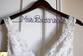 sale wedding dress hanger bride hanger last name by deighandesign