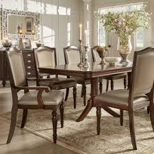 lasalle espresso nail head accent transitional dining side chairs
