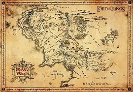 map from lord of the rings gb eye lord of the rings map parchment poster wood various 65 x