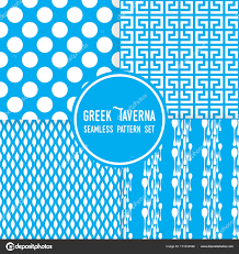 blue pattern background html blue greek tavern theme ornaments dots and cutlery shapes