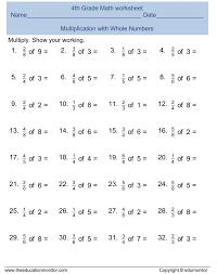 unit fraction of numbers 3rd grade 4 fractions worksheets f koogra
