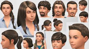 mod the sims hazel hair colour non default updated for