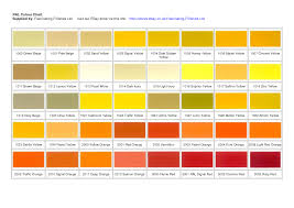 6 best images of yellow color chart yellow green color chart