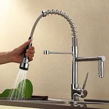 Chrome Kitchen Faucet Sprinkle Contemporary High Pressure Chrome Kitchen Faucet