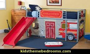Fire Engine Theme Beds Fire Truck Theme Beds Firefighter Kids - Firefighter kids room