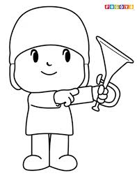 index coloringpages cartoons pocoyo