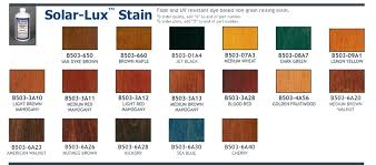 wood finish color charts wood stain colors