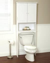 Bathroom Toilet Cabinets Bath Shelves Half Shelf Decor Decorative White Toilet Dark Tone